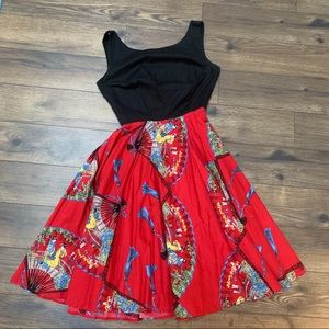 Trashy Diva Red Fans dress